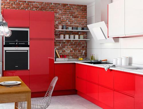 Cocina Lacada Roja