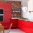 Cocina lacada en rojo